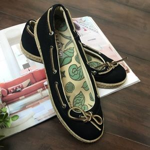 Sperry   Top Sider Black Flats